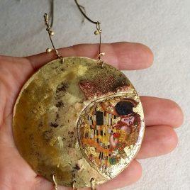 Colgante Festos-el beso de Klimt tamaño