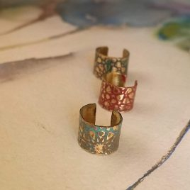 Pendientes tipo ear cuffs colección Al-Mutamid