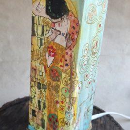 lámpara de mesa el beso Klimt vista cara espiral