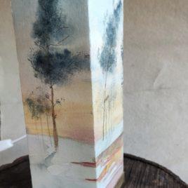 lámpara de mesa paisaje